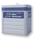 blauer Container