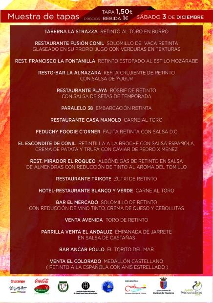 Flyer Tapas Ruta del Retinto 2016